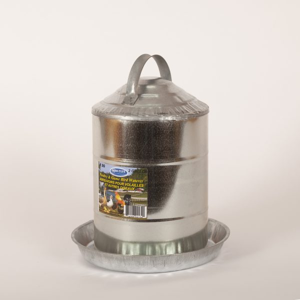2 Gallon Galvanized Feeder