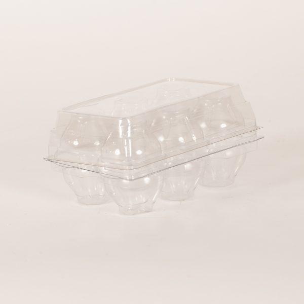 Tri-fold 6pk Plastic Egg Carton
