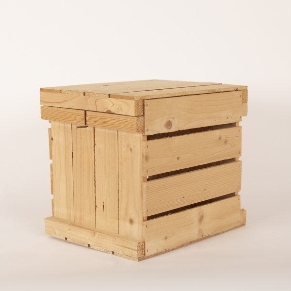 Wooden Egg Crate Lid On