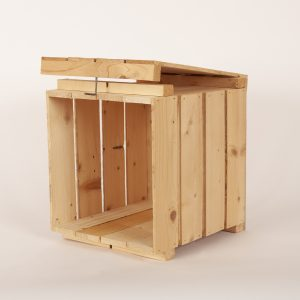 Wooden Egg Crate On Side